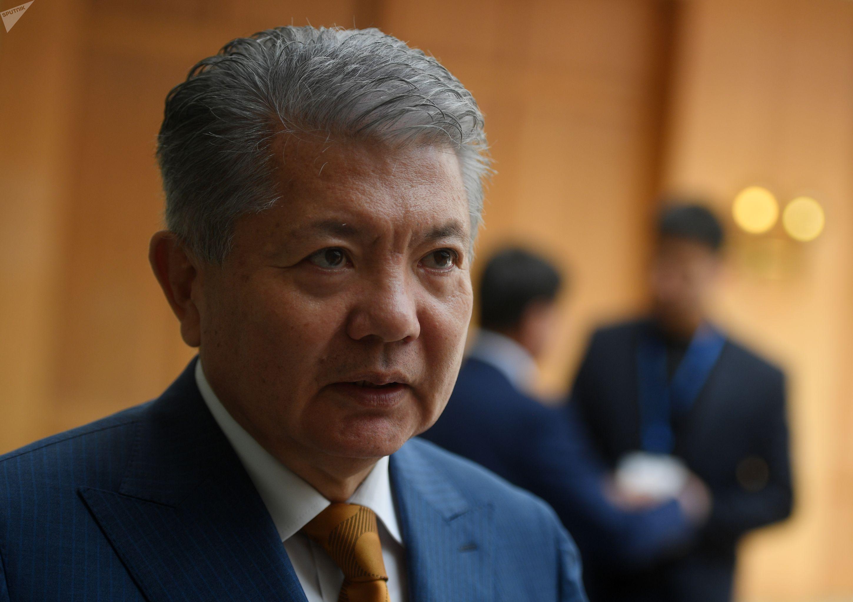 Посол Кыргызстана в России Аликбек Джекшенкулов на туристическом форуме Солнечный Кыргызстан - Иссык-Куль 2019 в Москве.