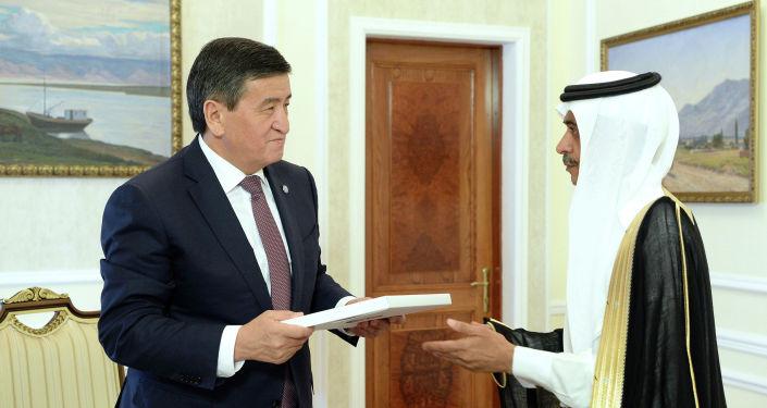 Президент Кыргызской Республики Сооронбай Жээнбеков принял Чрезвычайного и Полномочного Посла Королевства Саудовской Аравии в Кыргызстане Абдурахман бин Сайд бин Мухаммад Аль-Жума. 21 мая 2019 года