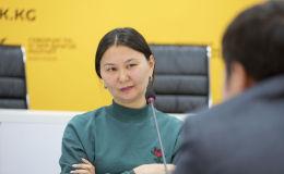 Представитель фонда Городские инициативы Айканыш Дербишева на круглом столе в пресс-центре Sputnik Кыргызстан