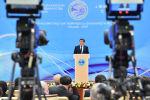 Президент Кыргызстана Сооронбай Жээнбеков выступает на медиафоруме стран ШОС Роль средств массовой информации в развитии Шанхайской организации сотрудничества в Бишкеке