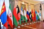 Флаги стран участников ШОС на медиафоруме Роль средств массовой информации в развитии Шанхайской организации сотрудничества в Бишкеке