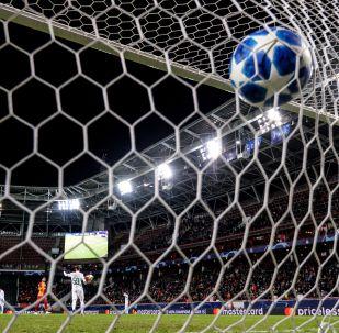 Мяч в воротах. Архивное фото