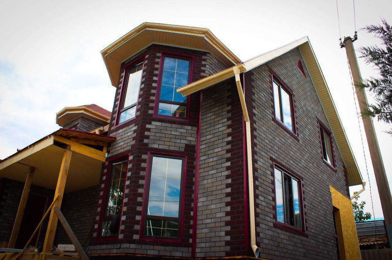 Дом построенный из СИП-панелей (SIP) в Кыргызстане