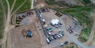 На окраине Бишкека началось строительство мусорного полигона — состоялась закладка капсулы