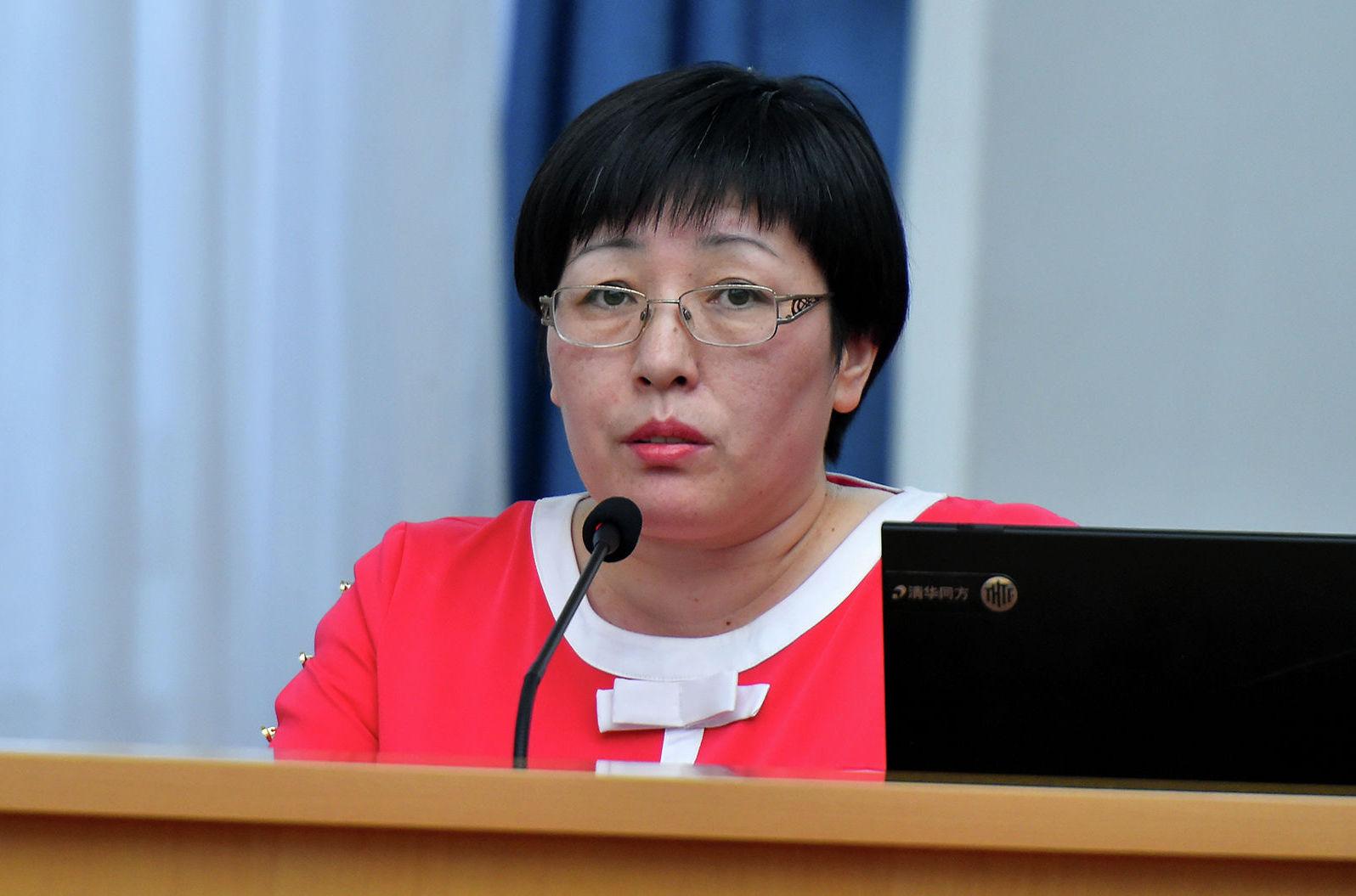 Глава Государственной регистрационной службы (ГРС) Алина Шаикова