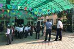 Бишкек шаарынын милициясы Акыркы коңгуроо салтанатында коопсуздукту сактап жатат
