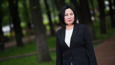 Глава муниципального предприятия Бишкекзеленхоз Эльнура Жолдошева