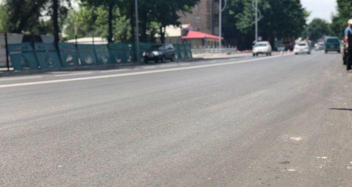 В столице расширили проспект Жибек Жолу в районе Западного автовокзала