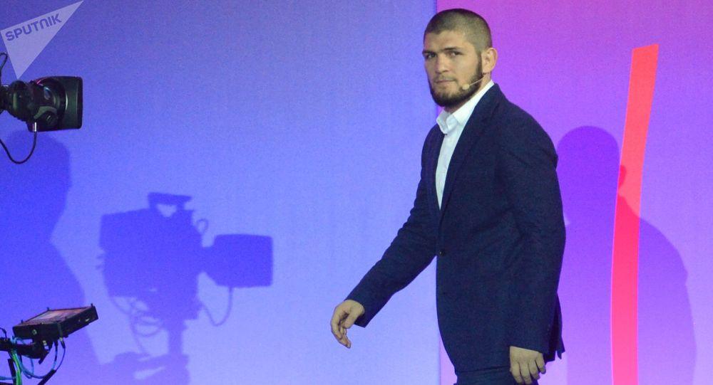 Россиялык UFC чемпиону Хабиб Нурмагомедов. Архив