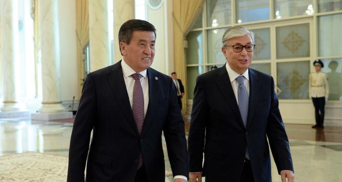 Кыргызстандын президенти Сооронбай Жээнбеков жана Казакстандын мамлекет башчысы Касым-Жомарт Токаев