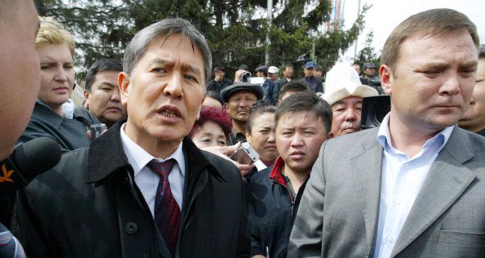 Премьер-министр Кыргызстана Алмазбек Атамбаев 2007 год. Архивное фото