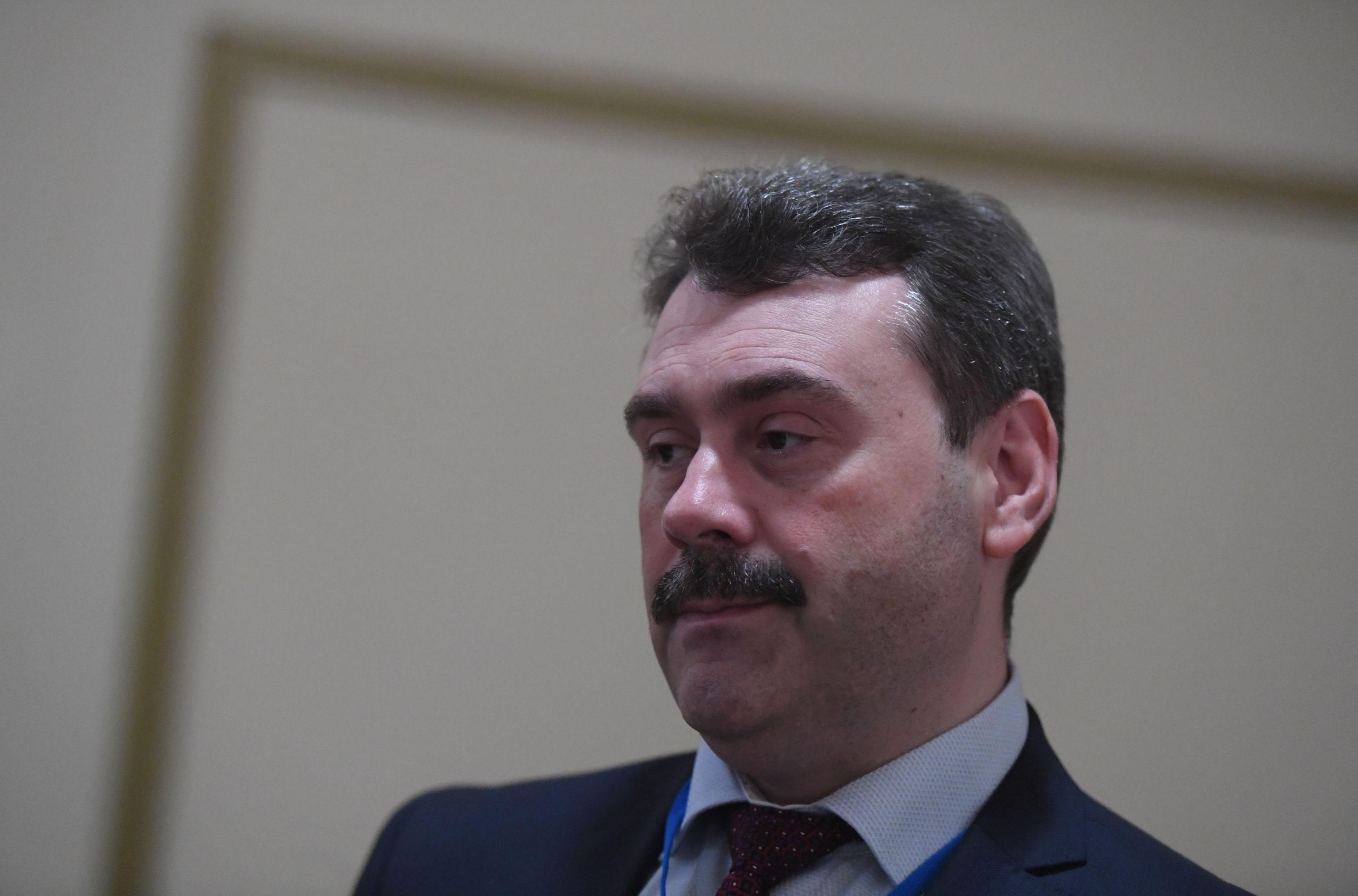 Статс-секретарь, заместитель директора Росфинмониторинга Павел Левадный на форуме по борьбе с отмыванием денег и финансированием терроризма в Москве