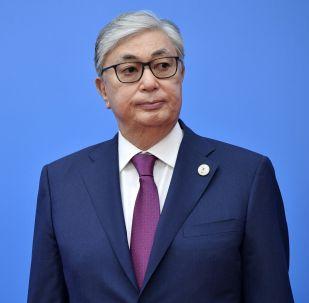 Казакстандын президенти Касым-Жомарт Токаев. Архивдик сүрөт