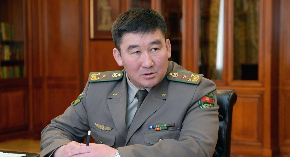 Кыргызстандын Мамлекеттик чек ара кызматынын төрагасы Уларбек Шаршеев. Архивдик сүрөт