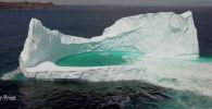 В Канаде фотограф Роджер Прайс снял с помощью дрона айсберг с бассейном внутри. Завораживающее видео опубликовано на популярном YouTube-канале Caters Clips.
