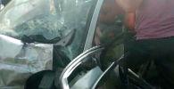Бүгүн, 1-июнда, Ошто эл ташып бараткан маршрутка менен Daewoo Matiz кагышты.