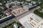 Вид на центральный площадь Ала-Тоо в Бишкеке с высоты. Архивное фото