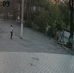 Sputnik Кыргызстан агенттигинин кабарчылары окуя болгон №48 мектеп-гимназияга барып келишти. Мектептин мугалимдери окуянын чоо-жайын айтып, көзөмөл камерасына түшүп калган видеону көрсөтүштү.
