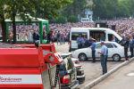 Сотрудники МЧС и правоохранительных органов на праздничном айт-намазе в Бишкеке