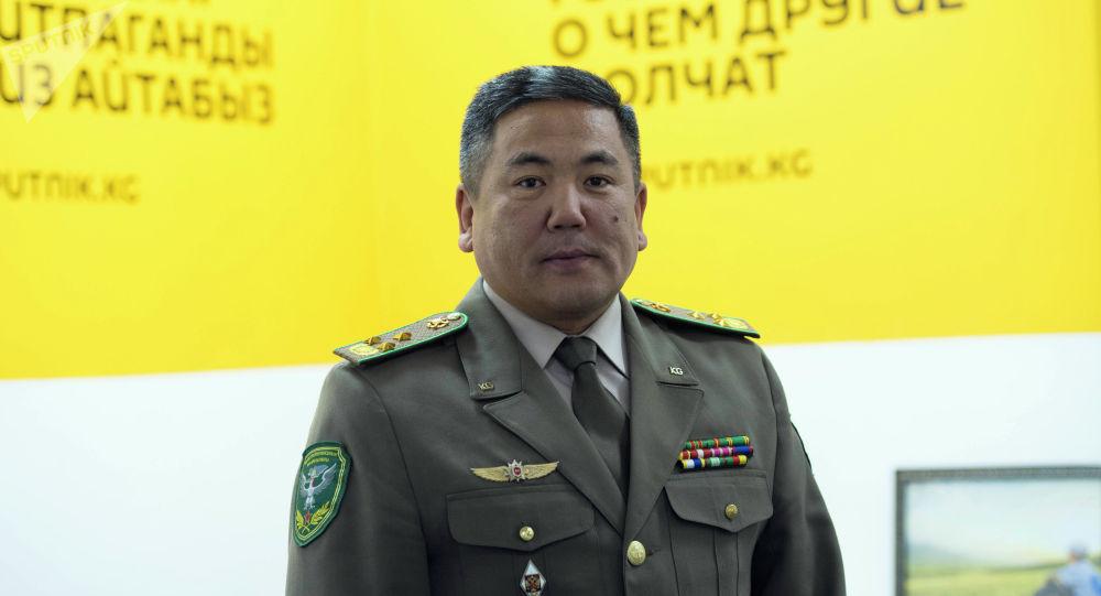 Мамлекеттик чек ара кызматынын жетекчисинин орун басары, полковник Абдикарим Алимбаев. Архив