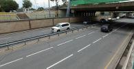 В Бишкеке продолжаются отделочные работы на путепроводах под мостом по улице Абдрахманова между улицами Кулатова и Боконбаева.