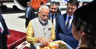 Премьер-министр Республики Индия Нарендра Моди прибыл в Кыргызскую Республику с официальным визитом