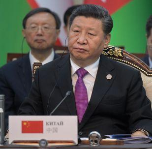 Председатель КНР Си Цзиньпин принимает участие в заседании Совета глав государств - членов Шанхайской организации сотрудничества (ШОС) в расширенном составе в государственной резиденции Ала-Арча в Бишкеке.