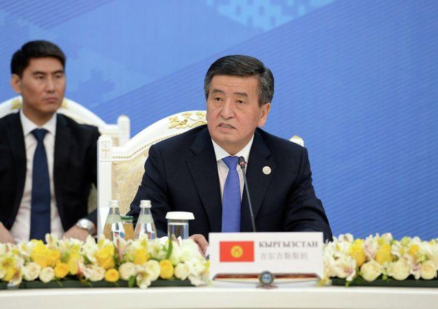 Президент Кыргызстана Сооронбай Жээнбеков принимает участие в заседании Совета глав государств - членов Шанхайской организации сотрудничества (ШОС) в расширенном составе в государственной резиденции Ала-Арча в Бишкеке. 14 июня 2019.
