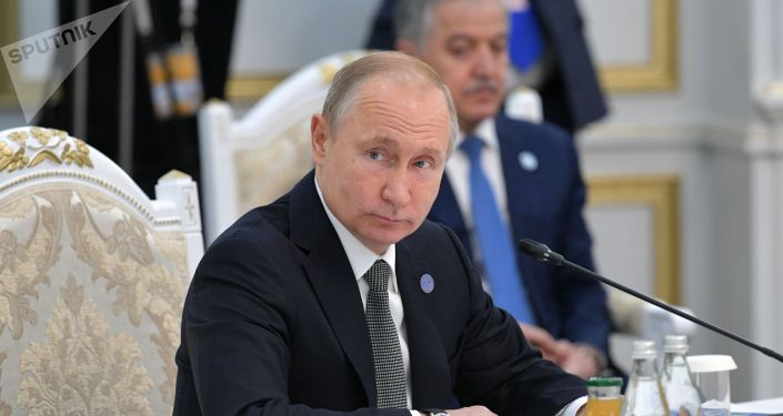 Президент РФ Владимир Путин принимает участие в заседании Совета глав государств - членов Шанхайской организации сотрудничества (ШОС) в узком составе в государственной резиденции Ала-Арча в Бишкеке.