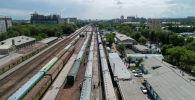 Бишкектеги темир жол платформасы. Архивдик сүрөт