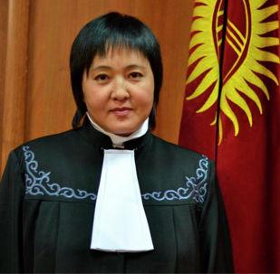 Жогорку соттун Конституциялык палатасынын мурдагы судьясы Клара Сооронкулова. Архивдик сүрөт