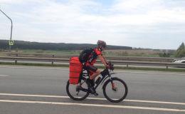 Сергею Прядко предстоит преодолеть 15 тысяч километров на велосипеде. Он поедет из Бишкека во Францию и обратно. Съемочная группа Sputnik Кыргызстан сняла его перед выездом.