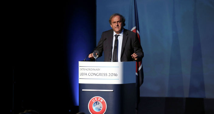 Европалык футбол ассоциациясынын (UEFA) мурдагы башчысы Мишель Платини. Архивдик сүрөт