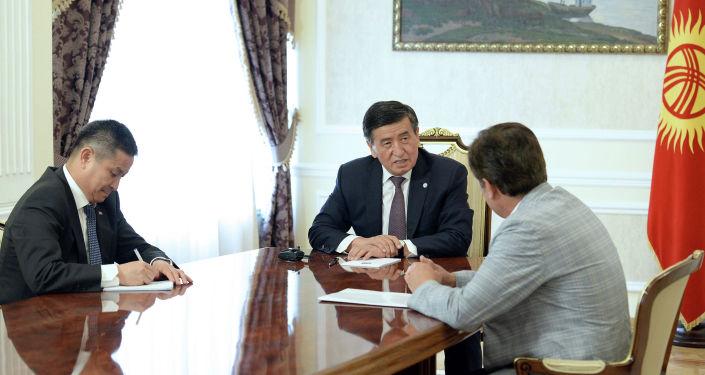 Президент Кыргызской Республики Сооронбай Жээнбеков принял летчика-космонавта, Героя Кыргызской Республики, уроженца Ошской области страны Салижана Шарипова. 18 июня 2019 года
