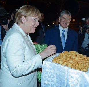 Прибытие Федерального канцлера Германии Ангелы Меркель в Кыргызстан