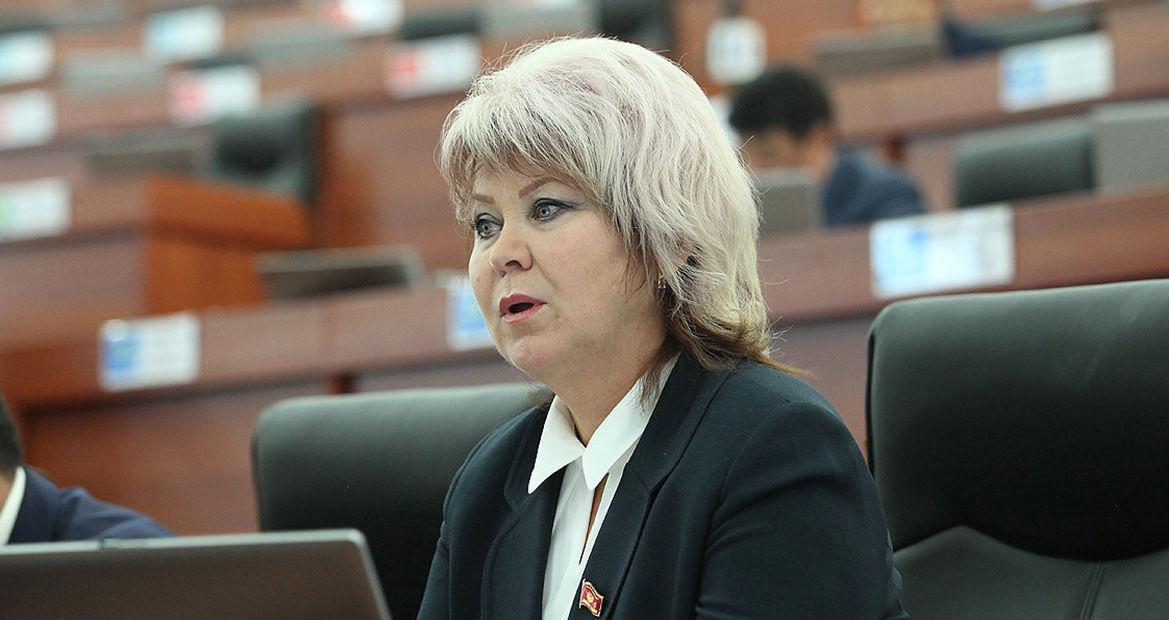 Депутат от фракции СДПК Ирина Карамушкина на заседании ЖК