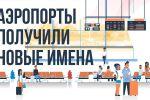 Теперь придется отвыкать от привычных Домодедово и Шереметьево. Это двухминутное видео наглядно показывает новые названия популярных российских аэропортов.