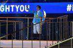 Казахстанский певец Димаш Кудайберген во время торжественной церемонии открытия II Европейских игр на стадионе Спартак в Минске (Беларусь).