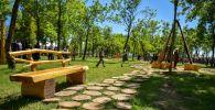 Сквер на пересечении улиц Анкара (бывшая Горького) и Виноградной в Бишкеке
