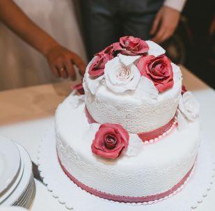 Свадебный торт. Архивное фото