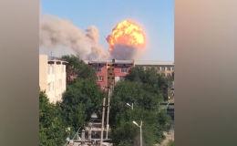 Взрывы прогремели 24 июня примерно в 9:20 в городе Арыси на складах боеприпасов воинской части № 44856.