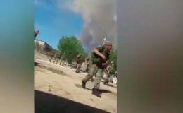 Взрывы прогремели 24 июня примерно в 9:20 в городе Арысь (юг Казахстана) на складах боеприпасов воинской части № 44856.
