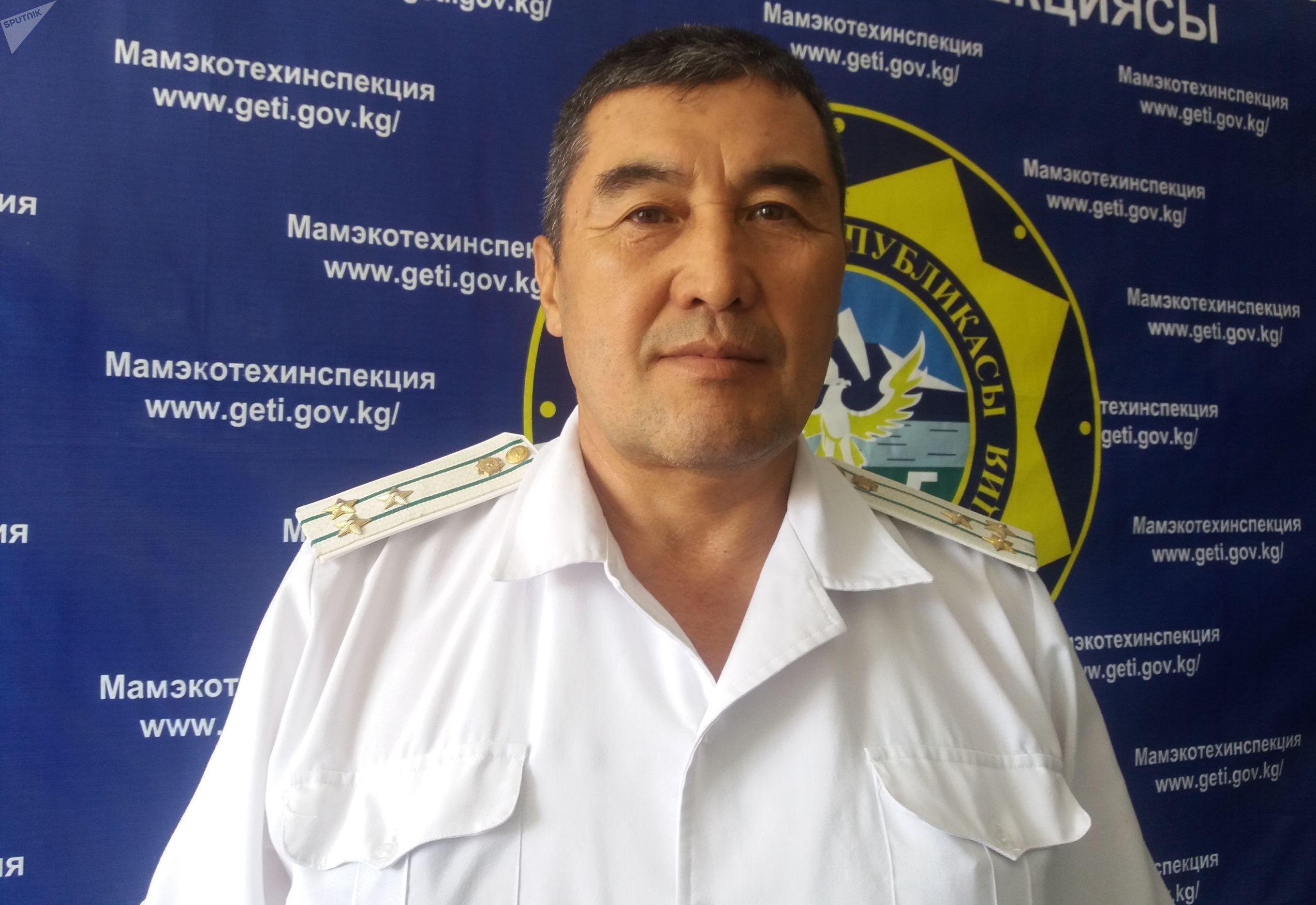 Старший инспектор Госэкотехинспекции по гогорду Ош Гыламидин Базарбаев