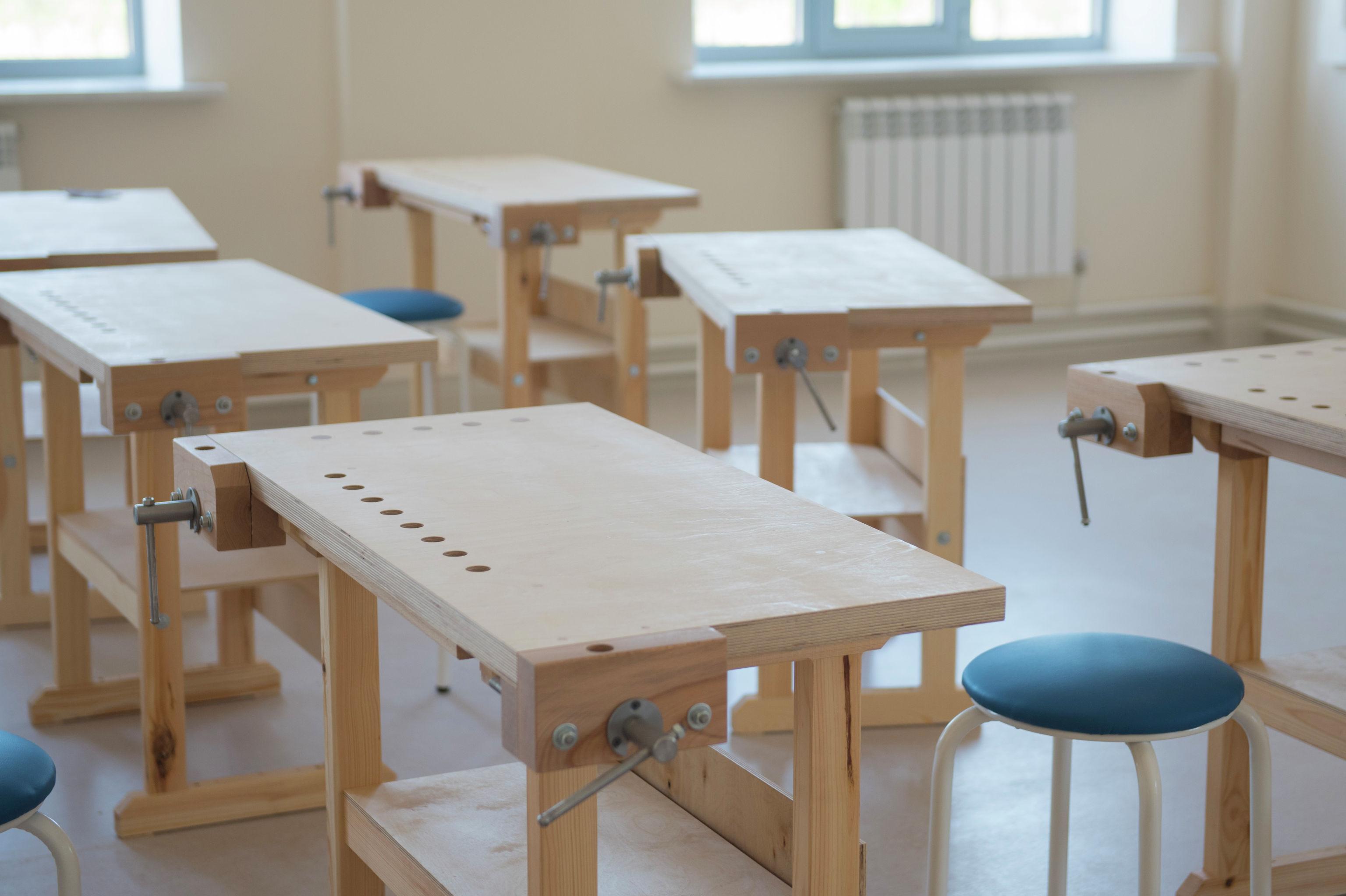 Мастерская в школе в южной части Бишкека построенной в рамках проекта Газпром — детям