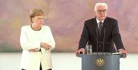 Канцлер Германии Ангела Меркель вновь почувствовала себя плохо во время официального мероприятия — на встрече с президентом страны Франком-Вальтером Штайнмайером.
