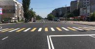 В Бишкеке после ремонта открыли улицу Нуркамал в районе 11-го и 12-го микрорайонов