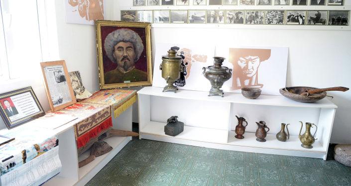 Дом-музей Каба уулу Кожомкула, где расположены архивные материалы и его личные вещи в Суусамырской долине Жайылского района Чуйской области. 30 июня 2019 года