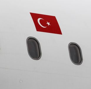 Флаг Турции на самолете. Архивное фото