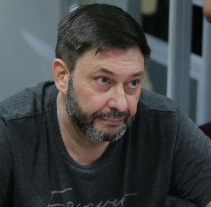 Суд в Киеве объявил перерыв по делу руководителя портала РИА Новости Украина Кирилла Вышинского до 15 июля.