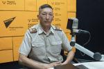 Начальник службы спасения Управления МЧС по Бишкеку Мелис Назарбеков